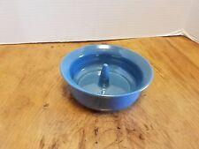 CROSS CREEK Pottery Seagrove NC Blue Apple Baker Signed T.H. 97  Handmade