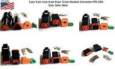 Deutsch 2,3,4,6,8,12 Pin Connector  Housing, Seals Crimp Terminals,14-16 AWG