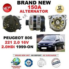 FOR PEUGEOT 806 221 2.0 16V 2.0HDi 1999-ON NEW 150A ALTERNATOR ** OE QUALITY **