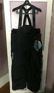 SKI DOO LADIES BLACK ABSOLUTE 0 HIGHPANTS # 441495 BLACK SNOW PANTS BIBS