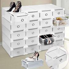 20 Pcs Boîte à Chaussures Plastique Housse Tiroir Stockage Empilable Rangement
