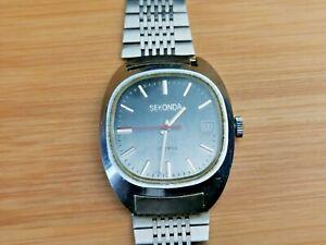 1970s Sekonda (Poljot Cal 2614.2H)  Mens Date Watch, Working, Vintage Mens Watch