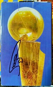 """STEPHEN CURRY SIGNED AUTOGRAPHED NBA 4"""" MINI CHAMPIONSHIP TROPHY BOX EXACT PROOF"""