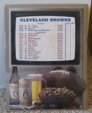VINTAGE 1986 CLEVELAND BROWNS SCHEDULE POSTER FROM COORS MAN CAVE RARE