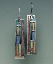 Woman Multi-Color Gemstone 925 Silver Ear Hook Drop Dangle Party Earrings Gift