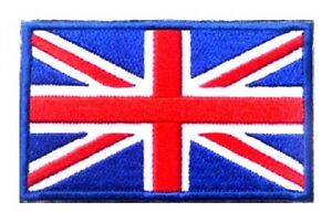 Union Jack Flag Patch UK GB England Embroidered Iron Sew On British badge