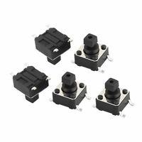 5Pcs 4 Pins Square 6mmx6mmx7.3mm High Temperature Mini Push Button Switch