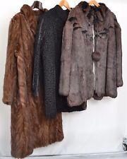 NW130 Konvolut 3x Pelzjacke Pelzmantel Pelz Nerz Persianer Fur Mink Coat Piel