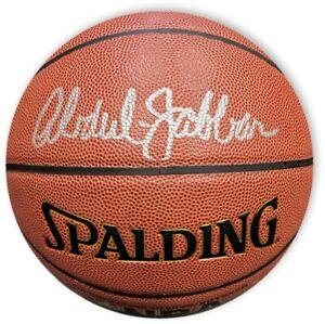 Kareem Abdul Jabbar Hand Signed Basketball Official Indoor/Outdoor Ball LAK PSA
