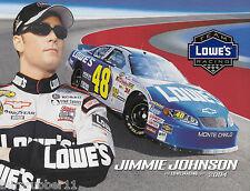 "2004 JIMMIE JOHNSON ""LOWE'S RACING 7X CHAMP"" #48 NASCAR NEXTEL CUP POSTCARD"
