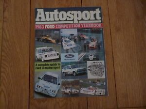 AUTOSPORT SUPPLEMENT 1983 FORD COMPETITION YEARBOOK FORD IN MOTOR SPORT ESCORTS