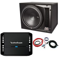 "Rockford Fosgate 10"" Punch Sub Enclosure and Mono Amp Package Deal RRP £479"