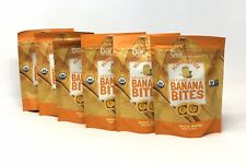 6 Pack Barnana Organic Chewy Banana Bites Peanut Butter Flavor 3.5 oz Each (5E)