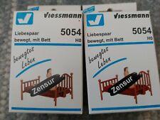 Viessman H0 5054 Sexy Liebespaar bewegt mit Bett, gebraucht&OVP
