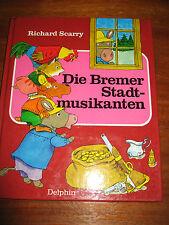 (e552) vecchio libro per bambini i musicisti di Brema Bremer Richard Scarry Delfino 1982
