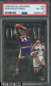 1998 Metal Universe #25 Shaquille O'Neal Los Angeles Lakers HOF PSA 6 EX-MT
