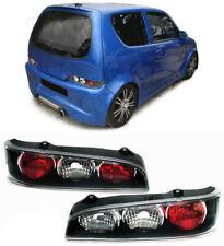 Klarglas Rückleuchten schwarz für FIAT Seicento ab 98
