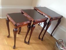 Mahogany Antique Style Rectangle Nested Tables