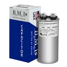 25 MFD x 370 / 440 VAC Round Run Capacitor BMI 800P256H44M36A4X Made in the USA