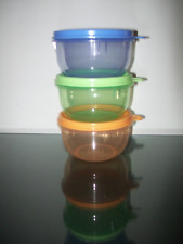 Tupperware Ideal Lit'l Bowl Set Baby Bowls Containers Set Spring Colors New Rare