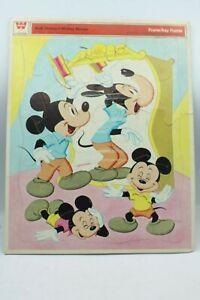 Vtg 1969 Whitman Walt Disney's Mickey Mouse Frame Tray Puzzle #4557 USA