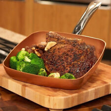 Square Frying Pan Skillet with Nonstick Coating for Saute Grill