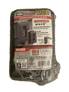 Outdoor Weatherproof In-Use Expandable Wall Outlet 20 Amp GFCI Gray New Sealed
