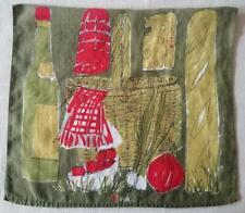 Vintage Vera Kitchen Linen Tea Dish Towel Food Picnic Basket Cheese Wine Bread