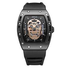 Skull Men's Watches Baogela Quartz Movement Silicone Watchband Fashion Watch