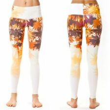 Teeki Womens Yoga Pants California Fall Medium Pilates Fitness Gym Made In USA