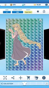 Topps Disney Collect Rapunzel Captured Moments Spectrum Tilt Motion Super Rare