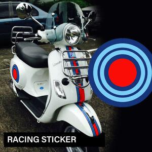 2x Martini Racing RUND 14x14 cm Aufkleber Sticker Vespa Dekor Motorrad PKW 28