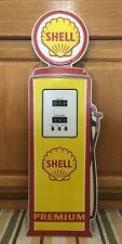SHELL PREMIUM GASOLINE Gas Pump Metal Vintage Style Motor Oil Wall Decor