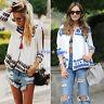 Women's Vintage Floral Loose Shawl Kimono Cardigan Boho Coat Jacket Tops Blouse