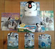 NIB Happy Feet 2 TRU ThinkWay Toys Plush Talking Erik, 2 books & 3 toys Penguins