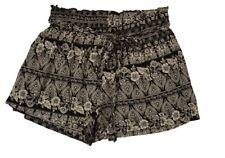 "PPLA CLOTHING CO GIRL'S SIZE L (14-16) ""JUDAS"" SHORTS BLACK WHITE SKORT NEW"