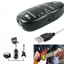 1/4'' Jack Guitar to USB Link Audio Cable Adapter for PC Mac Record