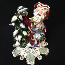 Blue Sky Santa Claus Girl On Lap Tea Light Heather Goldminc 2002
