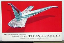 1958 Ford Thunderbird 4 Passenger Sales Brochure Revised