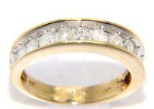 Ladies 14ct yellow gold, channel set diamond ring. UK Size - N 1/2 - 1 Full Ct