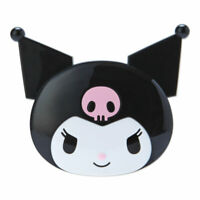 Kuromi My Melody Face Shaped Compact Mirror & Comb SANRIO Japan