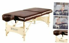Master Massage Balboa Pro Portable Massage Table Chocolate Luster Upholstery