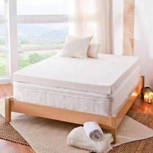 """Cal King Size Spa Sensations 4"""" Memory Foam Mattress Topper with Theratouch"""