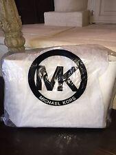 Michael Kors Cynthia OPTIC WHITE Large Saffiano Leather Tote NWT $398 MINT!!