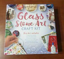Glass Stone Art Craft Kit DIY Painting Glass Stones NEW