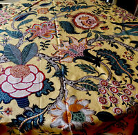 Ramm Fabric Coventry VTG Glazed Floral Chintz 9 YDS Large Scale Floral Yellow