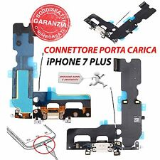 """RICAMBIO CONNETTORE CARICA FLEX CABLE BIANCO per APPLE IPHONE 7 PLUS 5.5"""""""
