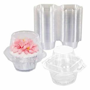 NPLUX Plastic Individual Cupcake Containers Single Cupcake Container for Birt...