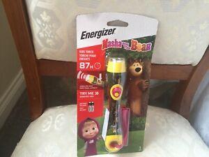 MASHA AND THE BEAR ENERGISER KIDS TORCH NEW