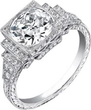 Engagement Ring inspired 925 Sterling Silver Round Vintage New Jewelry Women Cz